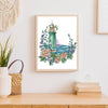 Rose Lighthouse - 14CT Stamped Cross Stitch - 23*29cm