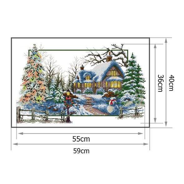 Four Seasons of Winter - 14CT Stamped Cross Stitch - 59*40cm
