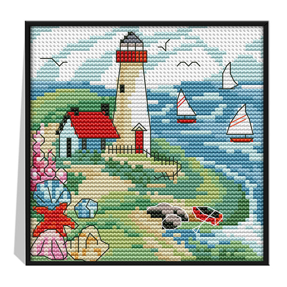 Summer - 14CT Stamped Cross Stitch - 16*16cm