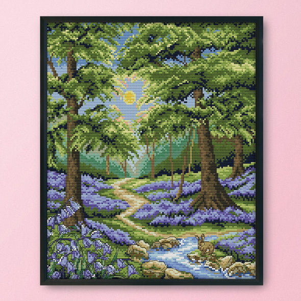 Bluebell Forest - 14CT Stamped Cross Stitch - 33*38cm