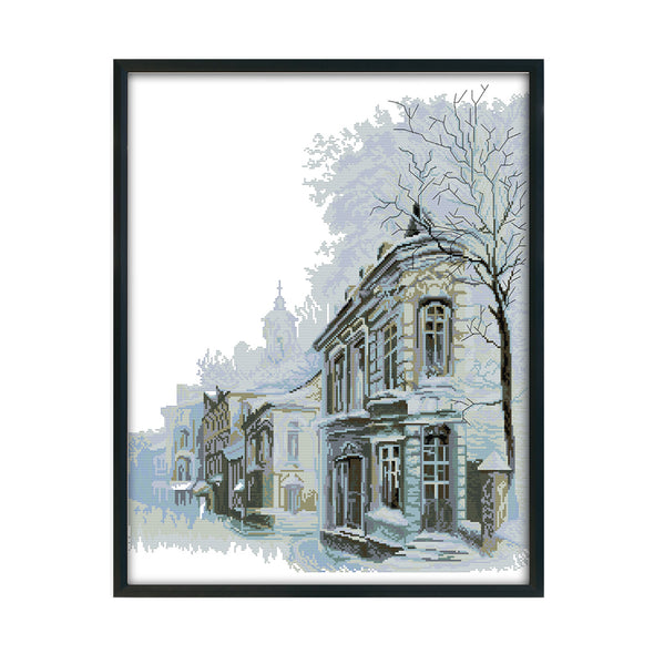 Winter Morning - 14CT Stamped Cross Stitch - 50x61cm