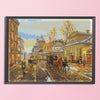 Street View - 14CT Stamped Cross Stitch - 60x47cm