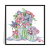 Fresh Flowers - 14CT Stamped Cross Stitch - 31x30cm