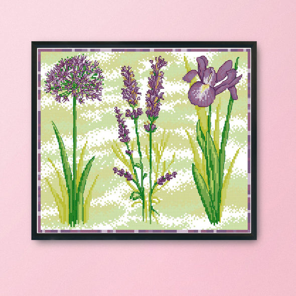 Sweet Home - 14CT Stamped Cross Stitch - 34x34cm