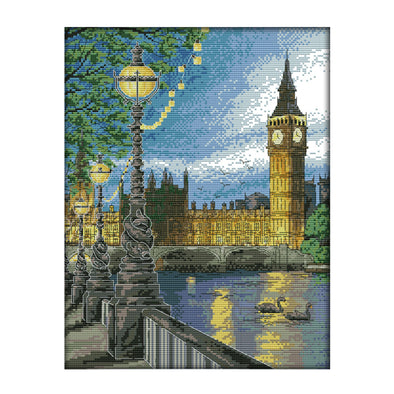 London clock tower - 14CT Stamped Cross Stitch - 33*41cm