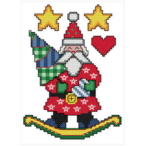 Santa Claus - 14CT Stamped Cross Stitch - 15x19cm