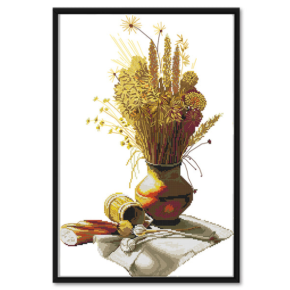 Autumn - 14CT Stamped Cross Stitch - 50x35cm