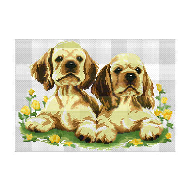 Go hand in hand - 11CT Stamped Cross Stitch - 45*34cm