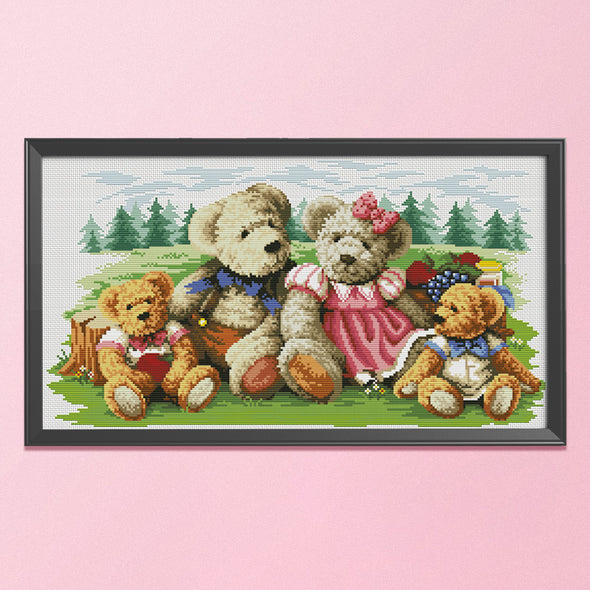 Family - 11CT Stamped Cross Stitch - 65x39cm