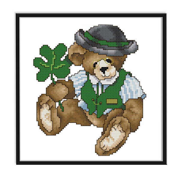 March Bear - 14CT Stamped Cross Stitch - 21x21cm