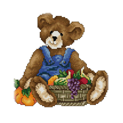 November Bear - 14CT Stamped Cross Stitch - 21x21cm