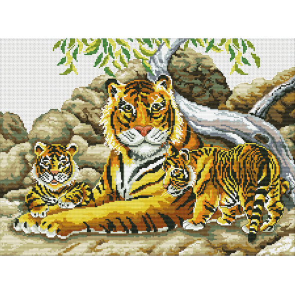 Siberian Tiger - 11CT Stamped Cross Stitch - 61x47cm