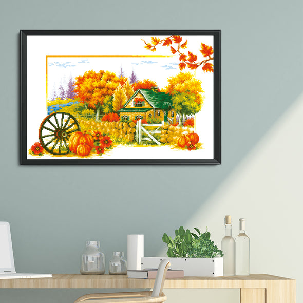 Soul Of Autumn - 11CT Stamped Cross Stitch - 62x45cm