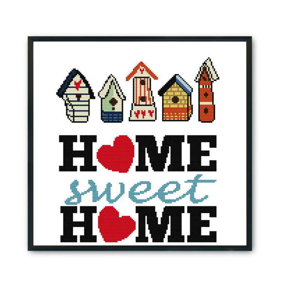 Sweet Home - 14CT Stamped Cross Stitch - 35x34cm