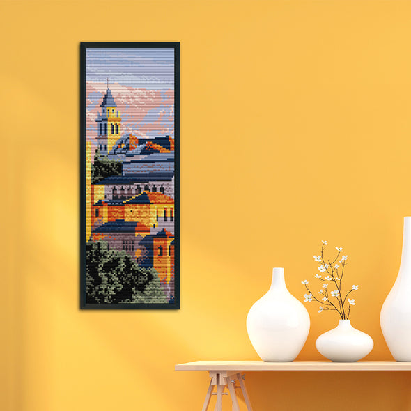 The Alhambra - 14CT Stamped Cross Stitch - 16x38cm
