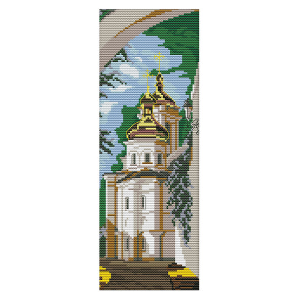 Russian Style - 14CT Stamped Cross Stitch - 16x38cm