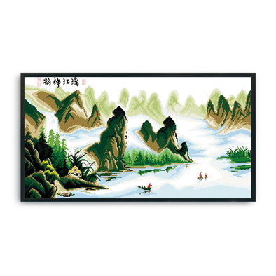 Lijiang Charm - 14CT Stamped Cross Stitch - 63x34cm