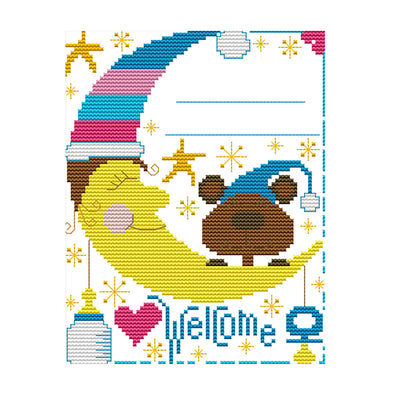 Baby Bear Birth Certificate - 14CT Stamped Cross Stitch - 22x18cm