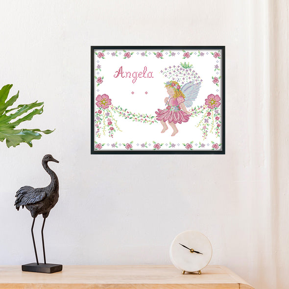 Baby Angel Birth Certificate - 14CT Stamped Cross Stitch - 35x30cm