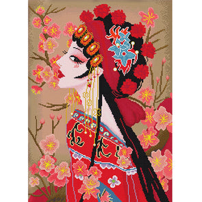 Peking Opera - 11CT Stamped Cross Stitch - 50x65cm