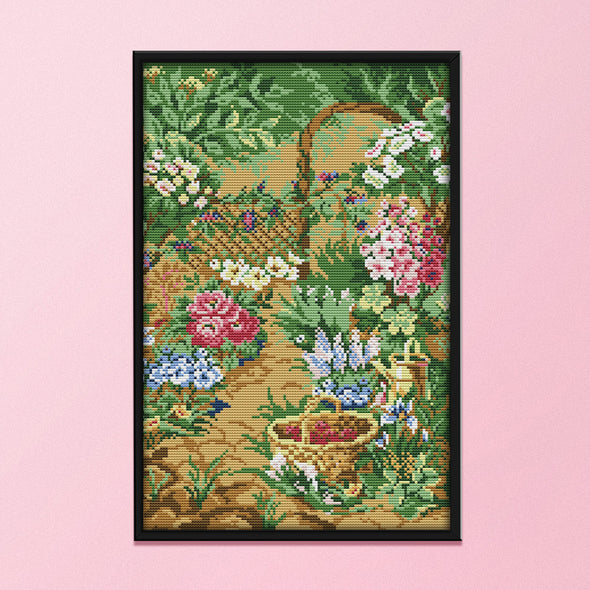 Garden - 14CT Stamped Cross Stitch - 29x41cm