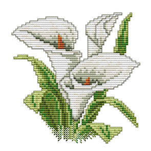 Flower Of Happiness - 14CT Stamped Cross Stitch - 17x17cm