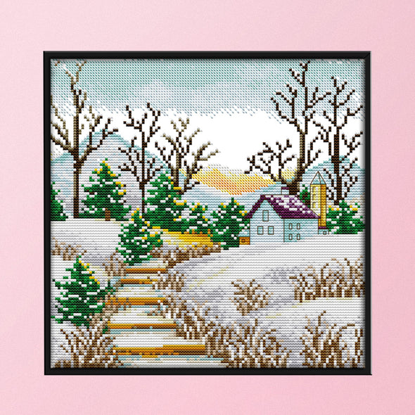 Winter - 14CT Stamped Cross Stitch - 29x29cm