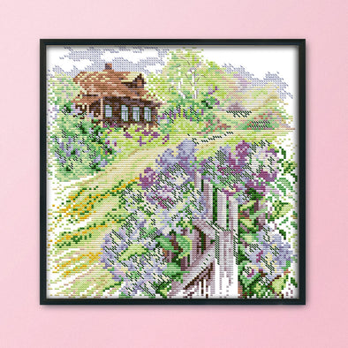 Country Road - 14CT Stamped Cross Stitch - 28x30cm