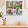 Spring Outside The Window - 14CT Stamped Cross Stitch - 21x19cm