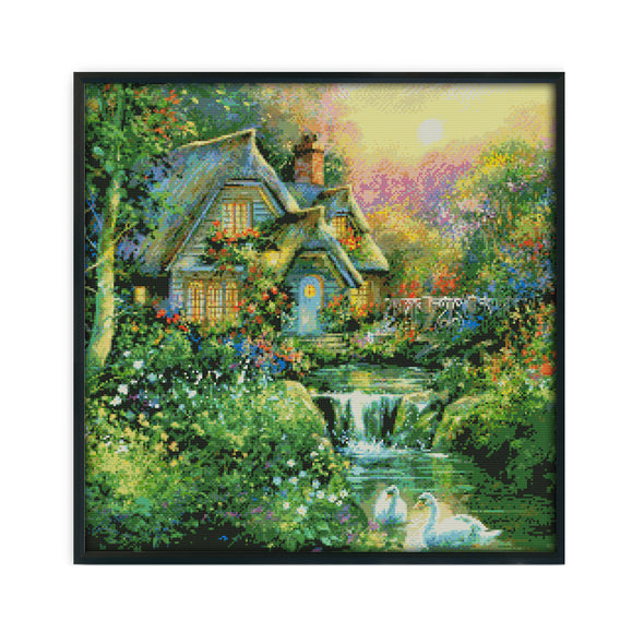 Country House - 14CT Stamped Cross Stitch - 52x52cm