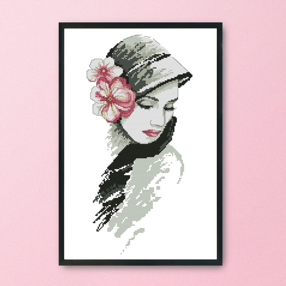 Beauty In Flowers - 14CT Stamped Cross Stitch - 47x27cm