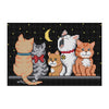Five Kittens - 14CT Stamped Cross Stitch - 22x16cm