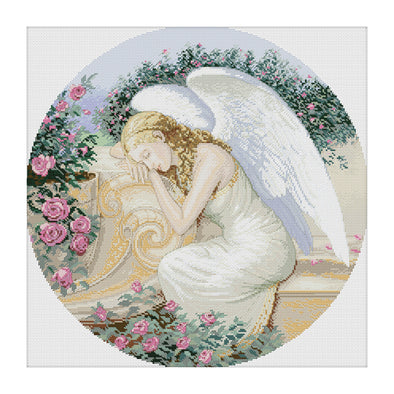Beautiful Fairy - 11CT Stamped Cross Stitch - 58x58cm