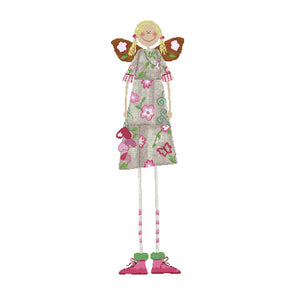 Long-Legged Butterfly Girl - 14CT Stamped Cross Stitch - 79*28cm