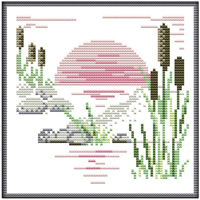 Four Seasons-Autumn - 14CT Stamped Cross Stitch - 20*20cm
