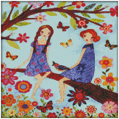 Yearning For Spring - 14CT Stamped Cross Stitch - 36x36cm