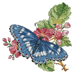 Dielianhua - 14CT Stamped Cross Stitch - 28*28cm