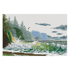 The Sound Of The Waves - 11CT Stamped Cross Stitch - 70*48cm
