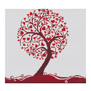 Love Tree - 11CT Stamped Cross Stitch - 47*44cm