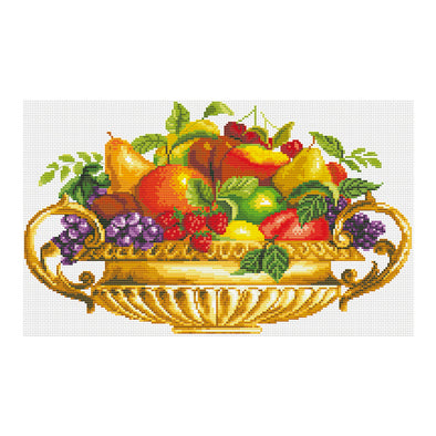 Gorgeous Fruit Plate - 11CT Stamped Cross Stitch - 55*36cm