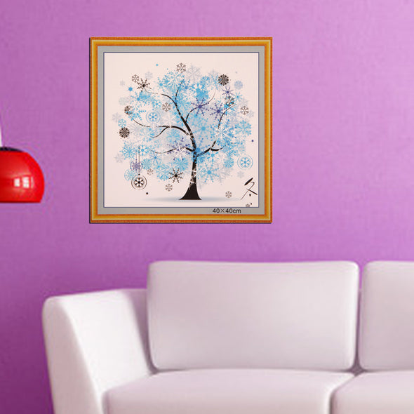 Four Season Tree Winter - Cross Stitch - 44x44cm
