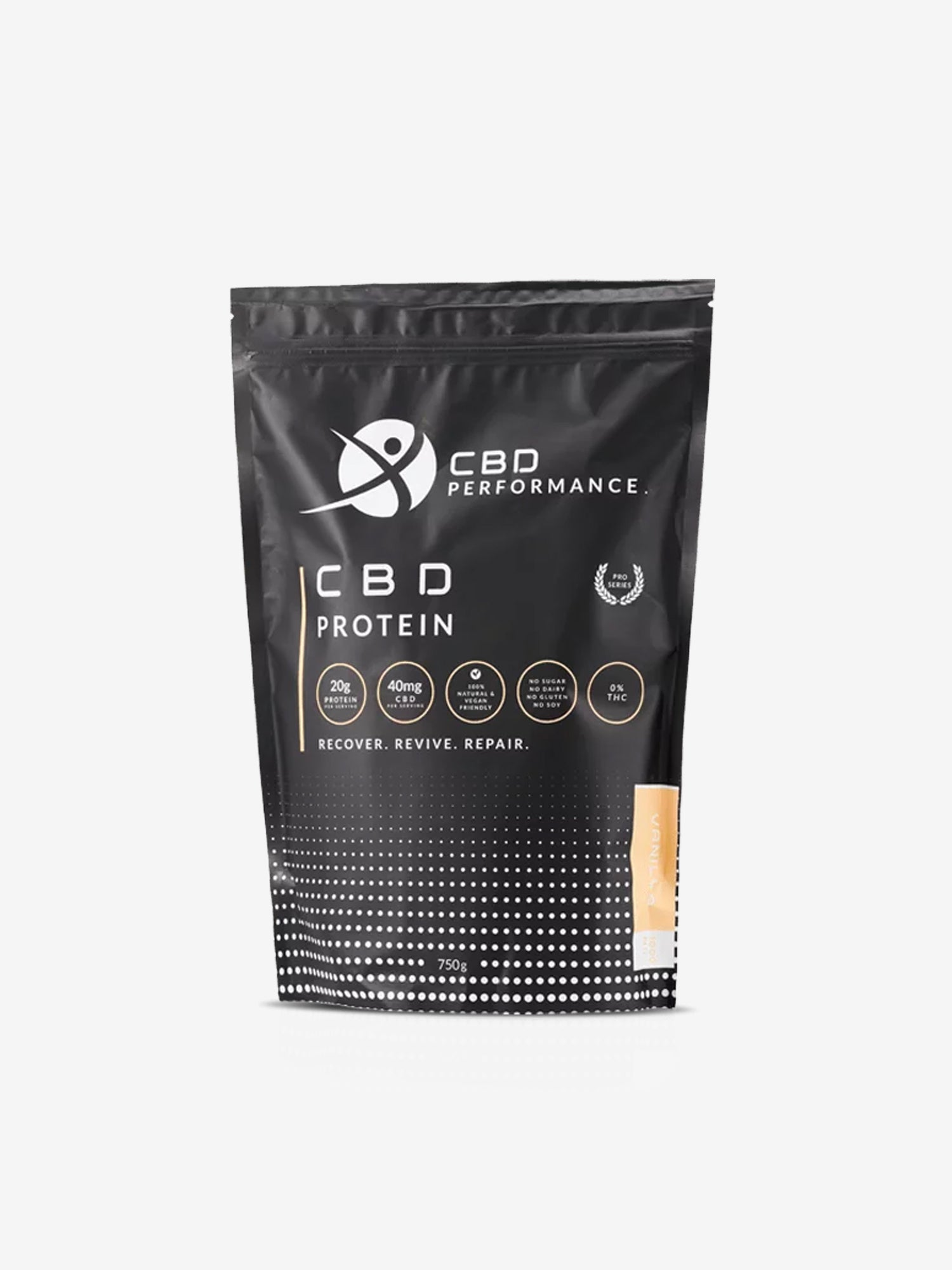 CBD INFUSED PROTEIN POWDER: VANILLA 1000MG