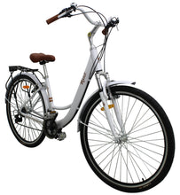 Load image into Gallery viewer, Cruiser Bike 700cc Wheel, 21 Speeds, White