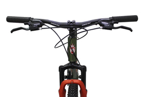 "Mountain Bike Flashing 29"" Wheel Green/Orange"