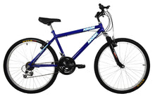 "Load image into Gallery viewer, Mountain Bike KRON 26"" Wheel, 18 Speeds, Front Suspension, Blue"