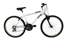 "Load image into Gallery viewer, Mountain Bike KRON 26"" Wheel, 18 Speeds, Front Suspension, White"