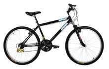 "Load image into Gallery viewer, Mountain Bike KRON 26"" Wheel, 18 Speeds, Front Suspension, Black"