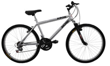 "Load image into Gallery viewer, Mountain Bike KRON 26"" Wheel, 18 Speeds, Front Suspension, Silver"