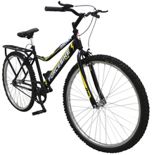 "Load image into Gallery viewer, City Bike ForceBike 26"" Wheel, Black/Yellow"