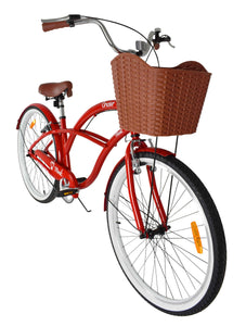 red strand cruiser bike